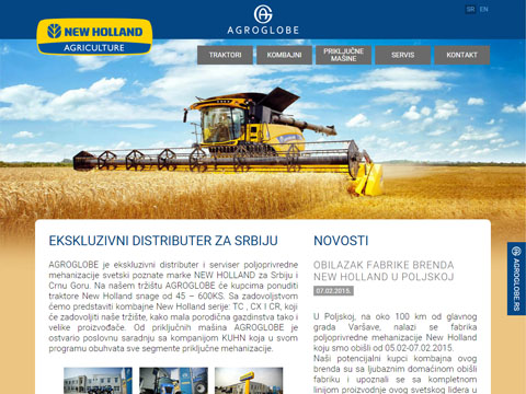 New Holland sajt